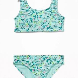 NWT Old Navy Tie Shoulder Floral Swimsuit